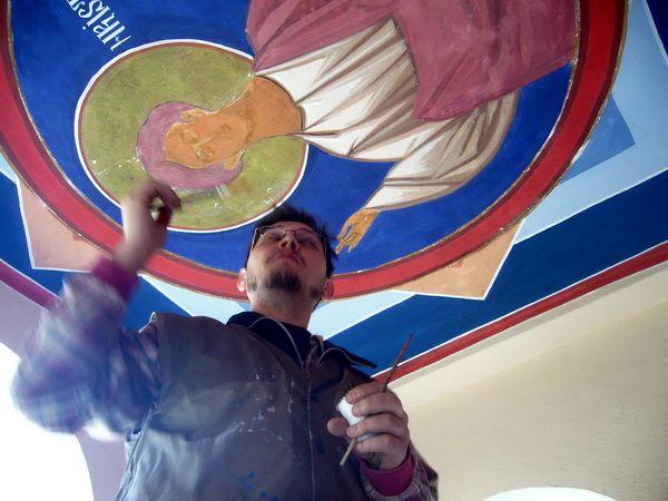 Iisus Emanuel restaurare boltă frescă