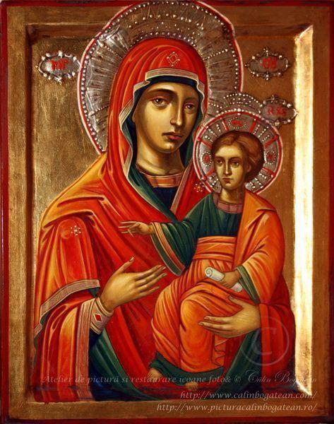 Maica Domnului Prodromita icoană pictură pe lemn