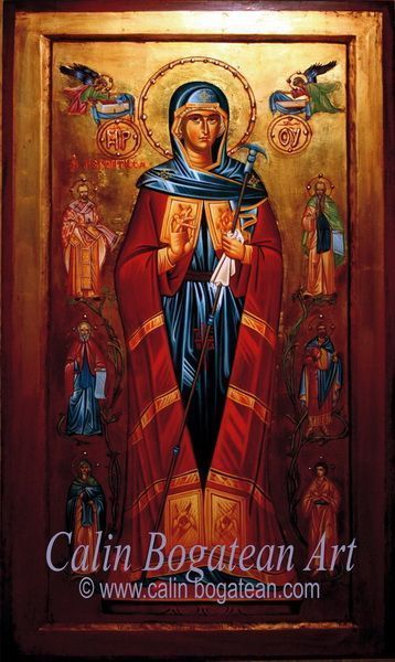 Maica Domnului bucuria celor necăjiți icoană pe lemn