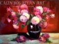 Crizanteme în vas de lut