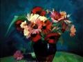 Maci și flori de grădină