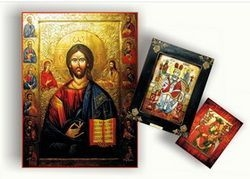 Icoane pictură pe lemn și sticlă de vânzare şi la comandă