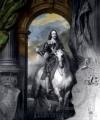 Tablou clasic cu personaj și cal
