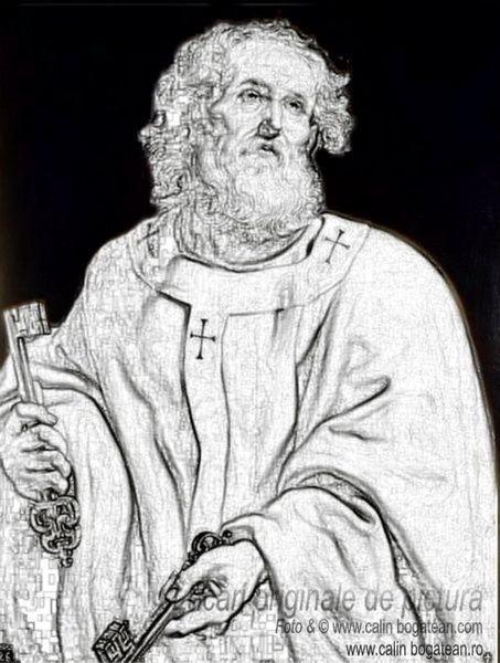 Reproducere tablou Sfântul Petru pictură fundal