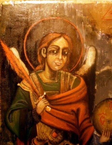 Sfântul Arhanghel Mihail icoană restaurată