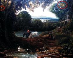 Restaurare găuri din tablou