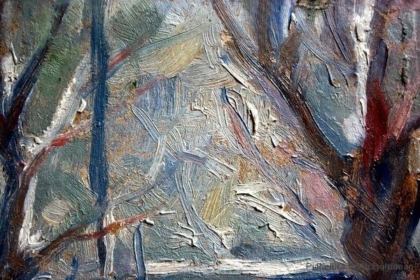 Integrare cromatică copaci tablou