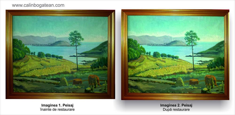 Restaurare tablou peisaj vara