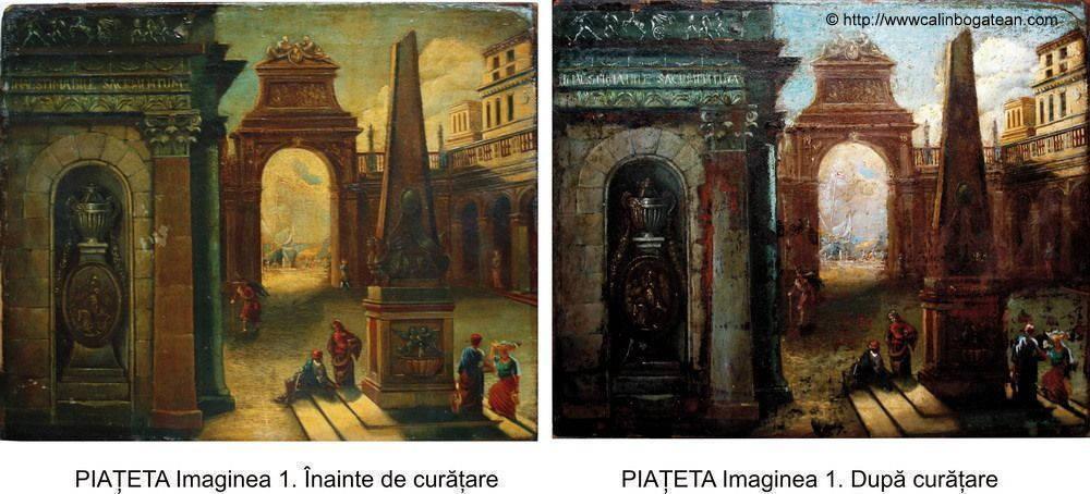 Restaurare tablou  Piațeta  Veneția