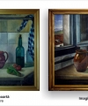 Restaurare tablou natură statică cu ulcele și sticle
