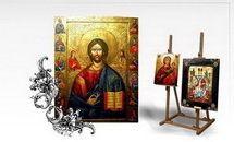 Icoane pictură pe lemn şi sticlă