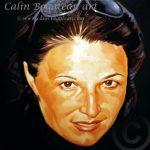 Portret detaliu fizionomic pictură în ulei pe pânză
