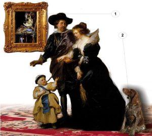 compoziție portret cu mai multe personaje