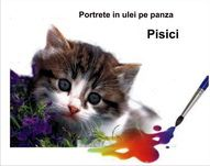 Portrete pisici ulei pe pânză pictură tablouri cu câini la comandă