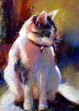 pictura_pisica_ulei pepanza_inpicioare
