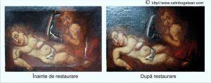 Restaurare tablou Iisus si Sf Ioan
