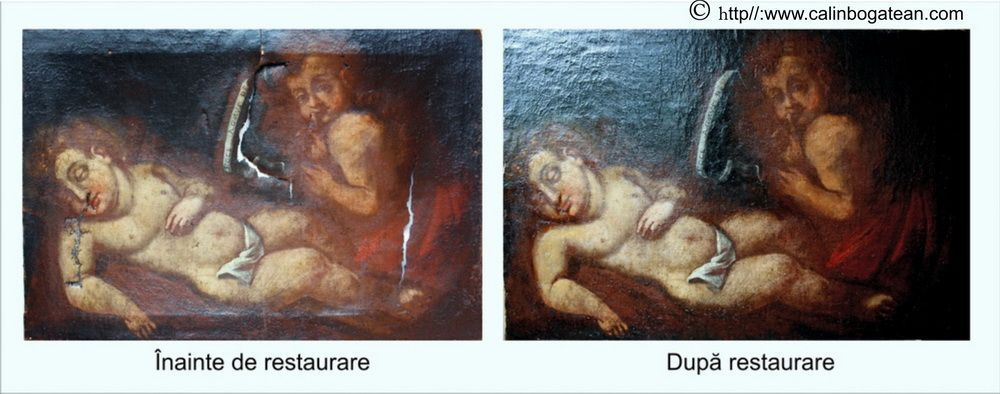 Restaurare tablou Iisus și Sfântul Ioan