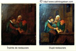 Restaurare tablou olandez
