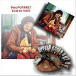 Preț portret bust cu mâini