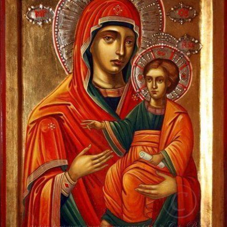 Maica Domnului Prodromița icoană pictură pe lemn