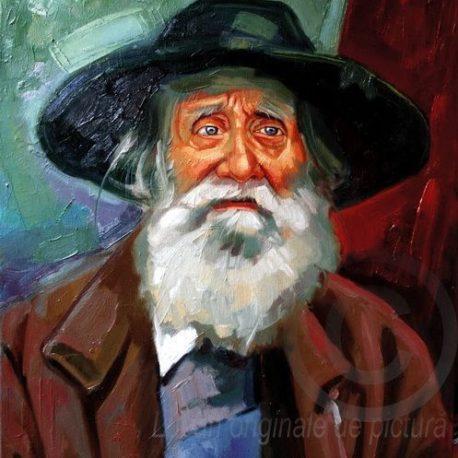 Portret de bătrân cu pălărie verde