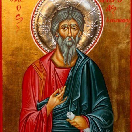 Sfântul apostol Andrei, Sfântul apostol Andrei apostolul românilor, Sfântului Andrei, Sfântul Andrei icoană, Icoană-bizantină, pictură, icoană, tehnica, tempera pe lemn, lucrare de artă ortodoxă, pictură pe lemn, la comandă,de vânzare, Icoană pictată