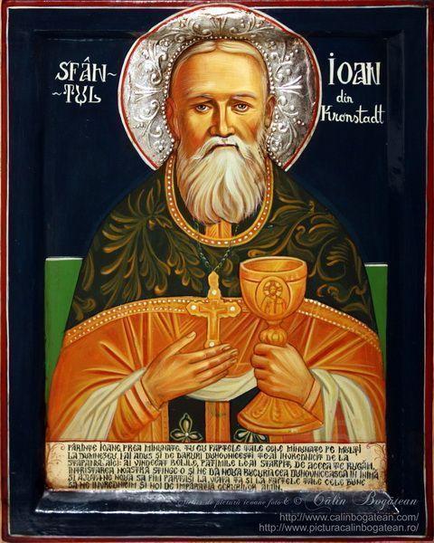 Sfantul Ioan din Kronstadt, icoană, icoană pe lemn, Ioan din Kronstadt, pictură pe lemn, icoană bizantină, Sf. Ioan din Kronstadt, pictură, Ioan din Kronstadt, lucrare, pictură tradițională,