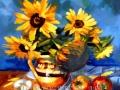 Floarea soarelui în vas de lut