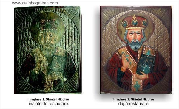 Restaurare icoană pe lemn Sfântul Nicolae