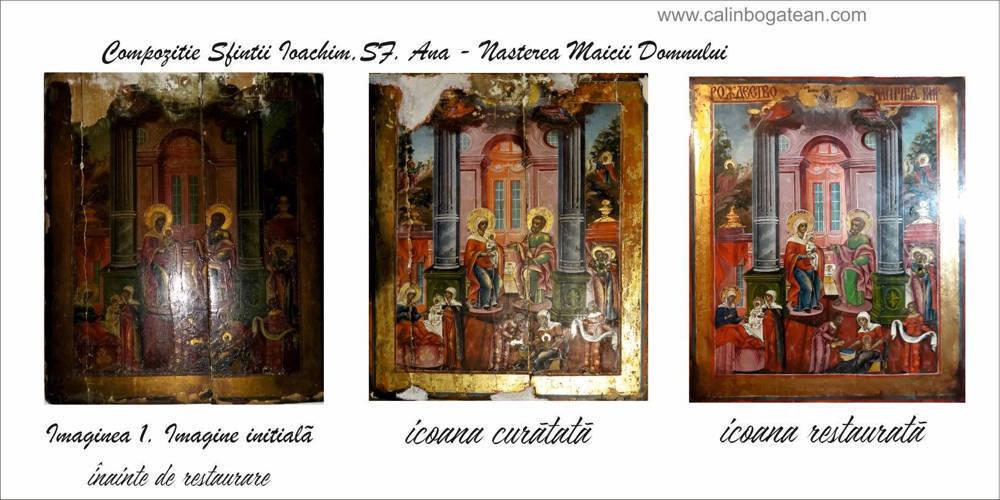 Restaurare icoană Sfinții Ioachim și Ana