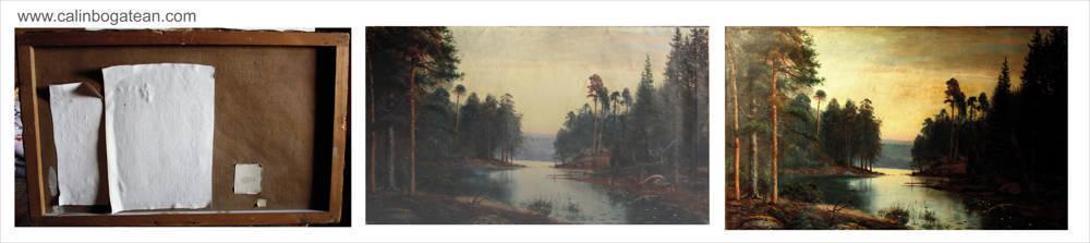 Restaurare tablou peisaj pictură rusă