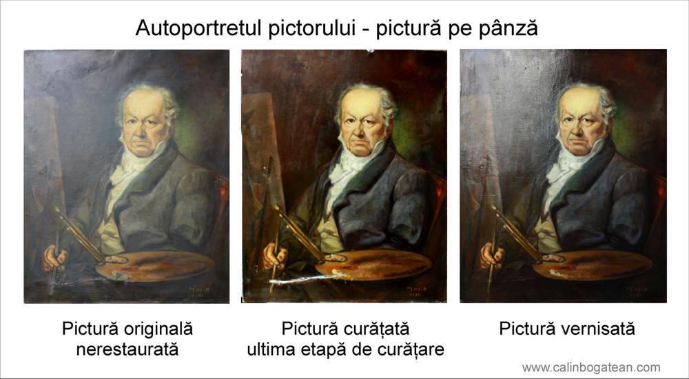 RESTAURARE tablou pictorul