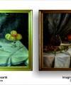 Restaurare tablou natură moartă cu fructe și pahar de vin