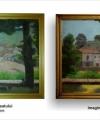 Restaurare tablou Porcarul satului