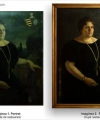 Restaurare tablou portret de femeie pictură baroc