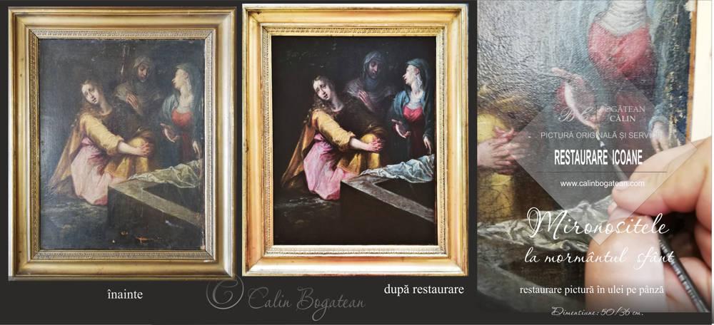 Restaurare pictură mironosițele la mormântul sfânt