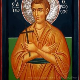 Sfântul Ioan Rusu, Sfântul Ioan Rusu icoană, Sfântul Ioan Rusu Evia, icoană pe lemn, Sfântul Ioan Rusu pictură pe lemn, icoană bizantină, Sfântul Ioan Rusu pictură, lucrare, pictură tradițională, artă religioasă, icoană, pictură pe lemn, icoană în tempera, emulsie de ou, Icoană pictată, icoană de vânzare, pictură naivă, icoană pictată, Sfântul Ioan Rusu rugăciune